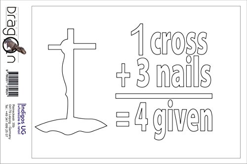 ステッカー‐自動車用ステッカー - Sticker / Decal - JDM - Die cut - Christian 1 Cross 3 Nails Decal Laptop Window Sticker - 白 - 149mmx88mm
