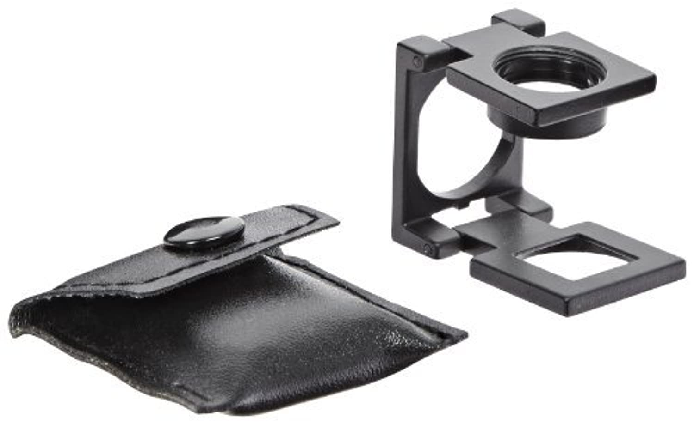 Fowler 52-660-006 Folding Pocket Magnifier 2.5X Magnification 20mm Grid Black Anodized [並行輸入品]