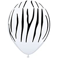 Safari Animal Zebra Print Balloons x 25 - Qualatex 11