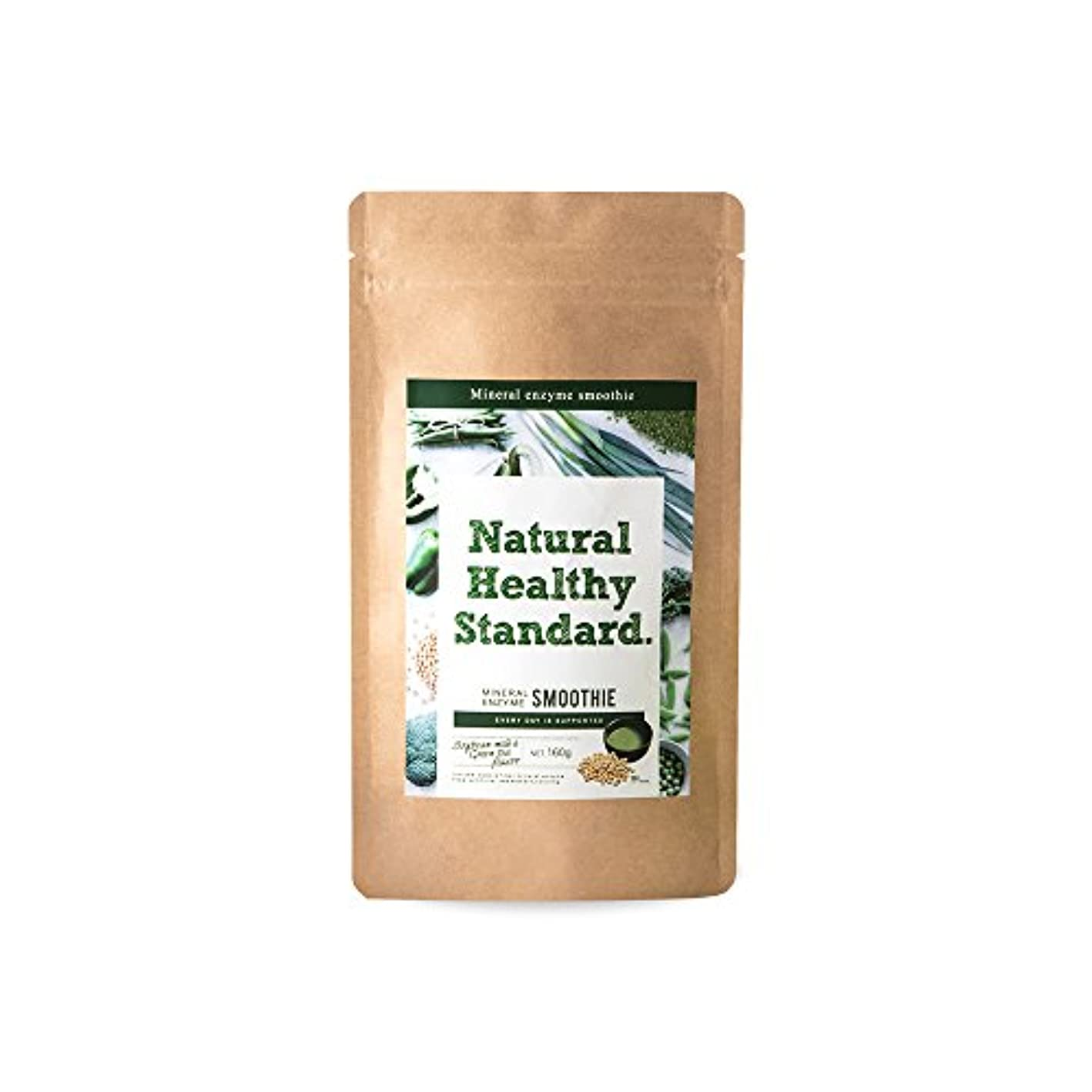 モスク幾何学冷蔵庫NaturalHealthyStandard(ナチュラルヘルシースタンダード) ミネラル酵素グリーンスムージー 豆乳抹茶味 160g