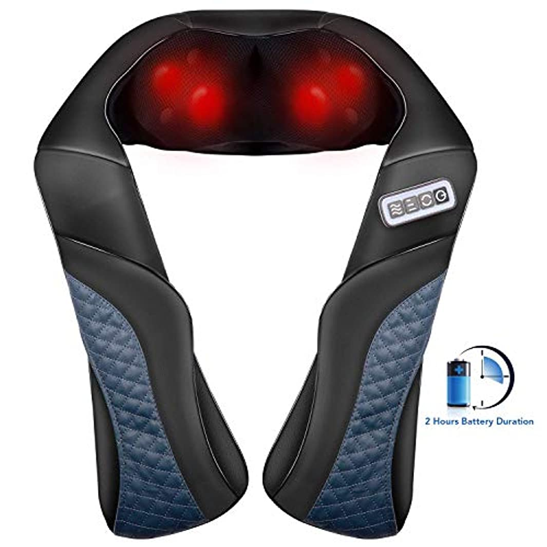 MaxKare Cordless Rechargeable Back Neck Massager Shoulder Shiatsu Massage with 3D Massage Nodes Bidirectional...