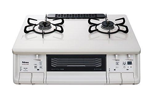 Paloma(パロマ) ガステーブル every chef(エブリ シェフ) 水無し両面焼き 59cm プロパンガス(LPG) 右強火 ナチュラルホワイト IC-365WHA-R-LPG