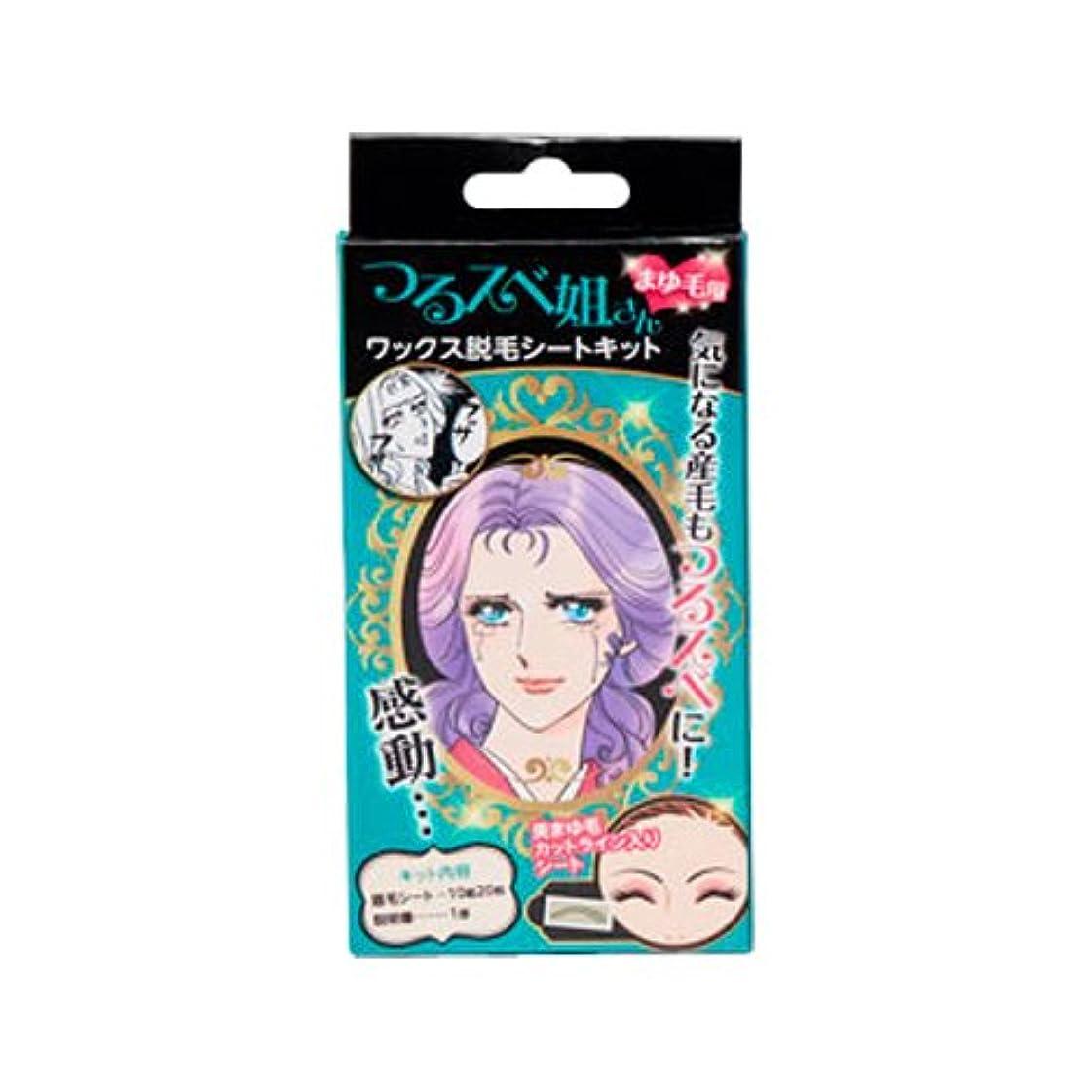 ショート増強瞑想的つるスベ姐さん まゆ毛用 ワックス脱毛シートキット (20枚)