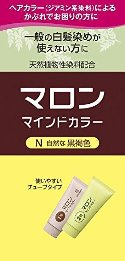 マロン マインドカラー N 自然な黒褐色 140g ×6個
