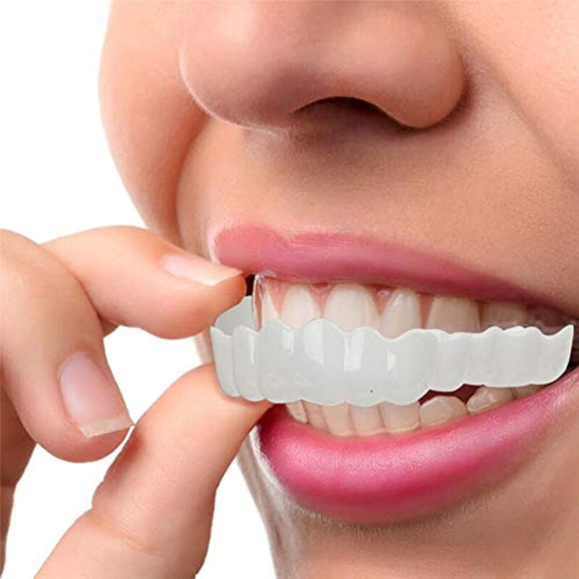 最初に巨大上に2セット、白い歯をきれいにするためのコンフォートフィットフレックス歯ソケット、化粧品の歯、スーパーコンフォート、コンフォートフィット