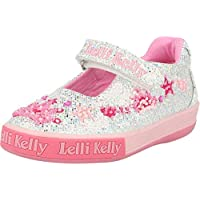 Lelli Kelly Tiara Dolly Silver Glitter Canvas Child Mary Jane Shoes