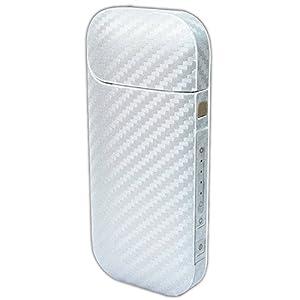 アイコス スキンシール 2.4Plus 全面 日本製 カーボン ホワイト IQP02