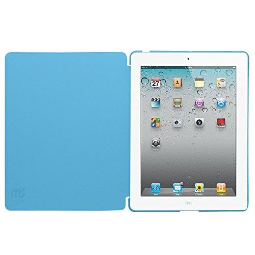 MS factory iPad2 iPad3 iPad4 スマート カバー バック ケース 一体型 オートスリープ iPad 2 3 4 スタンド ケースカバー 全11色 スカイ ブルー 水色 IPD-SMART-SKY