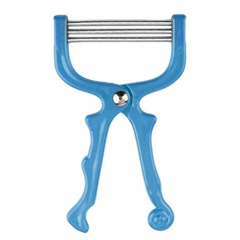 フロンティア皮刺激する安全なハンドヘルドスプリングローラー女性の顔の顔の脱毛脱毛器美容脱毛器エピローラーフェイスケアマッサージャー-ブルー