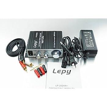 Lepy 新モデル LP-2024A+ (ブラック)デジタルアンプ(本体+RCAオーディオコード+ACアダプタ 12V5A +バナナプラグ) LP-2020A バージョンアップ版