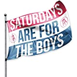 SATURDAYS ARE FOR THE BOYS Official Flag, Barstool Sports, 3x5 Foot, Durable & Fade Resistant, Perfect for Tailgates Dorms Co