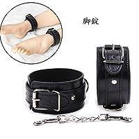 脚錠 メタルバックル レザー 足枷 ボンデージ 拘束具 束縛具 コスプレ SM調教 調節可能 大人のおもちゃ ブラック