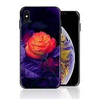 iPhone 11 pro 携帯カバー ロマンチック バラ 紫 花柄 カバー TPU 薄型ケース 防塵 保護カバー 携帯ケース アイフォンケース 対応 ソフト 衝撃吸収 アイフォン スマートフォンケース 耐久