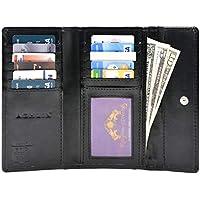 Ashlin RFID BLOCKING Cashmere Lambskin Leather Women's Wallet Black (RFIDL5910-07-01)