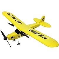 【Ludus Felix】2ch セスナ型 飛行機 ラジコン 33cm ビッグサイズ パイパー J-3 カブ 電動