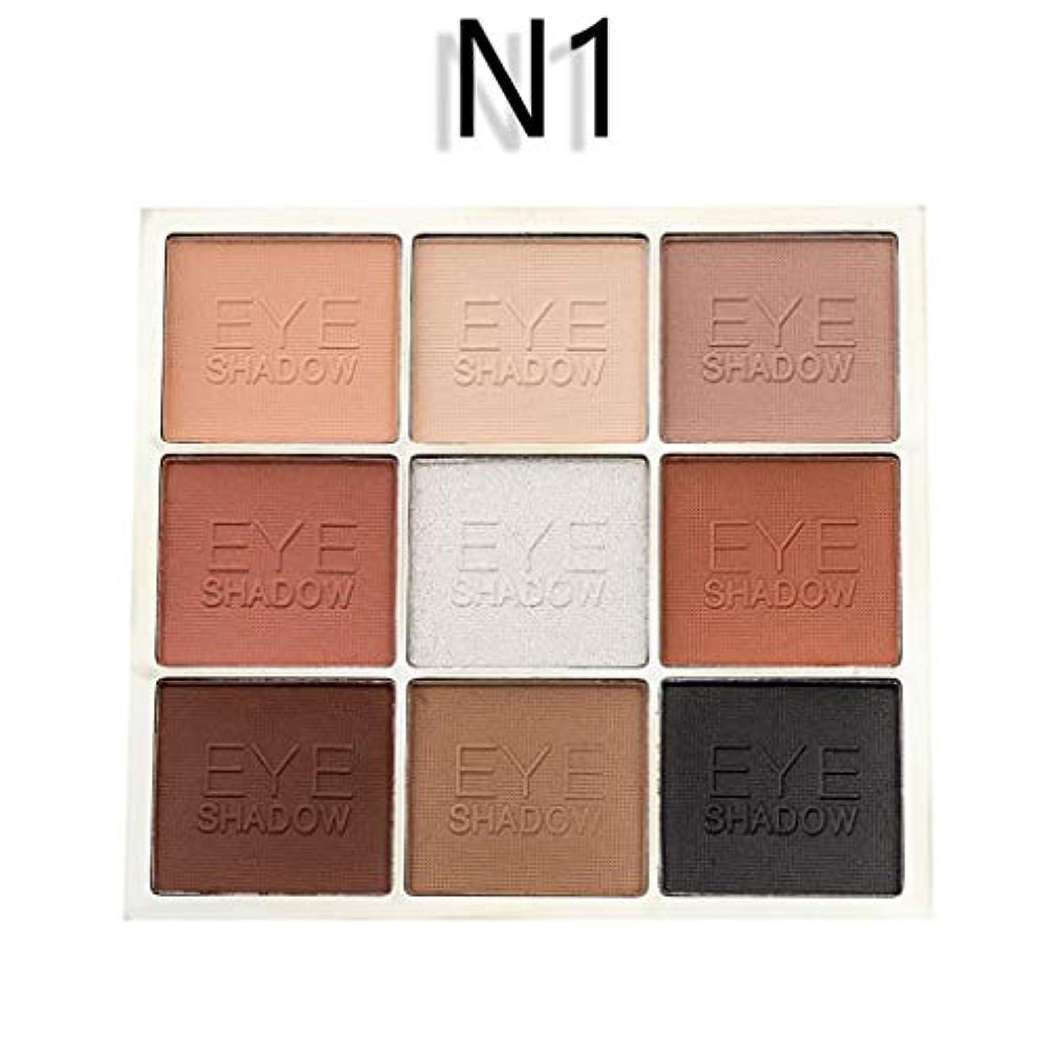 文化欠伸入力Lazayyii ins アイシャドウ 化粧品 きらめき 化粧マット パレットセット防水 9色 (N1)