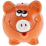 Flameer Cartoon Piggy Coin Money Box Pig Bank Storage Case Kids Great Toy Gift Orange
