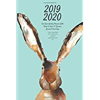 """2019 2020 Two Year Weekly Planner With """"Goals to Gain"""" & """"Lessons Learned"""" Each Day Take a persistent & fun approach towards organizing your life.: Rabbit Appointment Book for Kids, Children, Teens: Plan Goals, Dream & Reflect on Lessons: 6"""" x 9"""", 105 pg"""