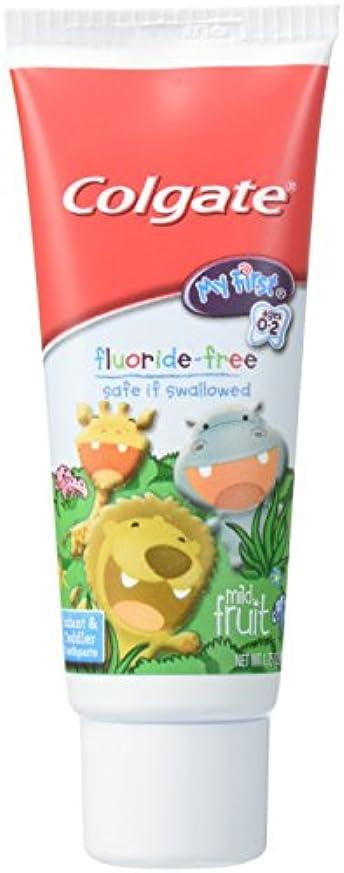 愛想像するショットColgate 私の最初のフッ化物無料マイルドフルーツ歯磨き粉、1.75オンス