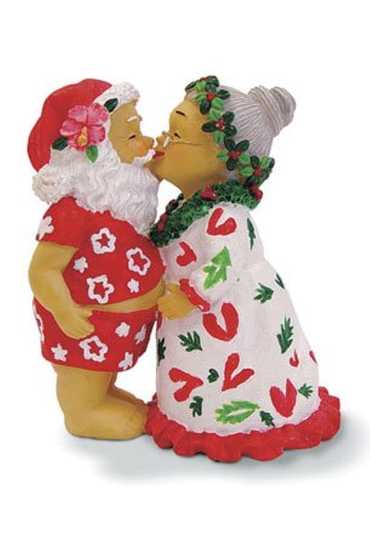ハワイアン クリスマス 樹脂製オーナメント キッシングサンタ