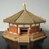 プラッツ 1/100 木製建築模型 法隆寺 夢殿 プラモデル