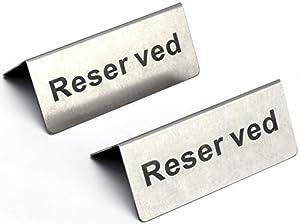 高品質 ステンレス製 予約席 サイン プレート 2個セット テーブル Reserved バー レストラン カフェ 御予約 席 プレート