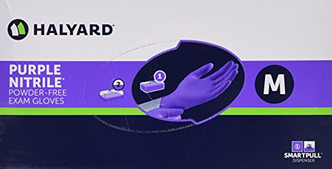 同情エピソードブルーベルHalyard Health Kimberly Clark Nitrile Glove, Purple, Medium, 100 Count by Halyard Health