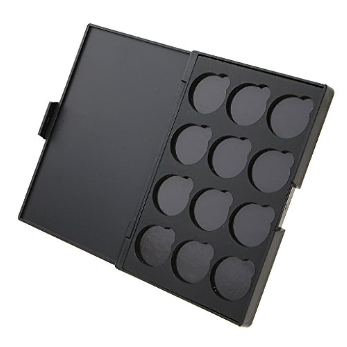 シソーラスカスタム命令的全3種類 組み合わせ DIY ボックス 磁気 アイシャドー パレット 旅行用 メイクアップ 便携 収納 - ケース+プレート