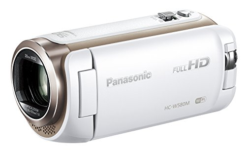 Panasonic HDビデオカメラ W580M 32GB ワイプ撮り 高倍率90倍ズーム ホワイト HC-W580M-W