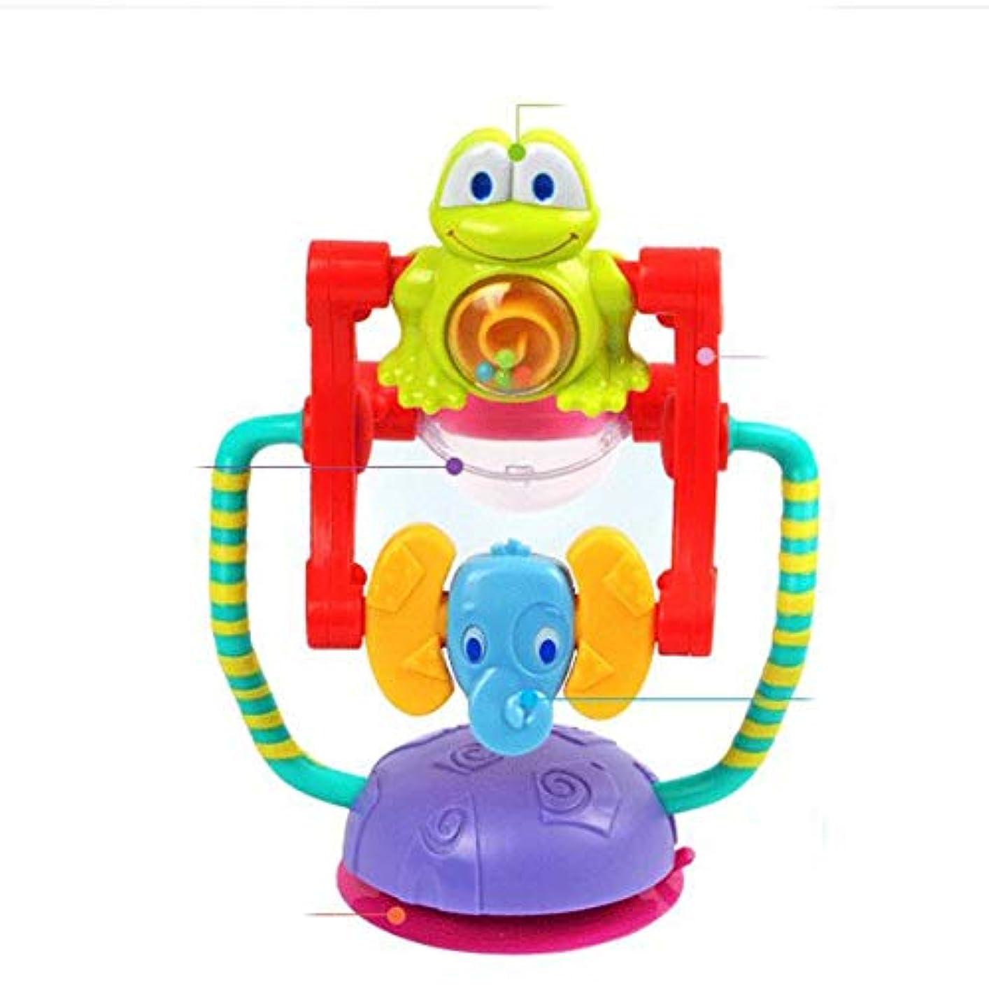 高い不正確レオナルドダ動物の回転観覧車の赤ちゃんのトロリーのおもちゃの赤ちゃんのおもちゃ0-12ヶ月のBrinquedosパラベベホイールガラガラBebek Oyuncak-Multi-color-1サイズ