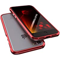 【luphie-bumper】iPhone7 (4.7inch) ケース / iphone7ケース / iphone 7 ケース / バンパー ケース / バンパー カバー / スマホケース / スマホーカバー / アイフォン7ケース / アイフォン7 カバー / 超軽量 / 衝撃吸収 / 耐衝撃 / 航空用アルミニウム ケース / 2層構造 フルカバー スマホケース / (レッド)