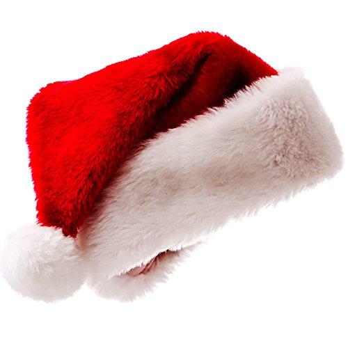 TSUNEO屋 サンタ帽子 1/5/10個セット 大人用 クリスマス サンタ 帽子 ふかふか 男女兼用 赤 (1個)