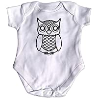 123t Funny Babygrow - Owl Baby Jumpsuit Romper Pajamas Clothing Slogan Newborn Presents Novelty Babygrows