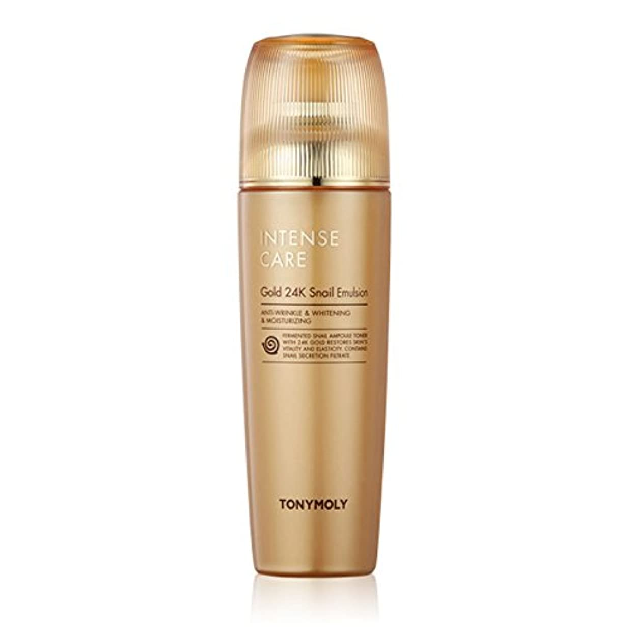 セットアップ塗抹褒賞TONYMOLY Intense Care Gold 24K Snail Emulsion 140ml