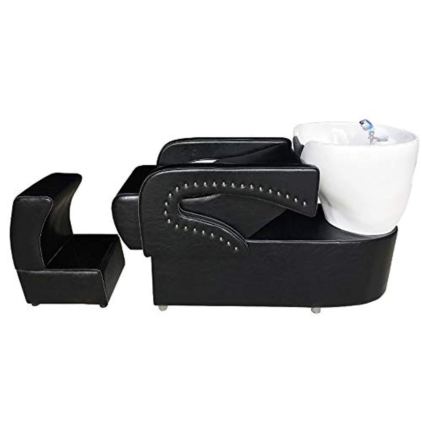 直立美的ラックシャンプーの理髪師の逆洗の椅子、鉱泉の美容院のためのシャンプーボールの流しの椅子は半くぼみのフラッシュベッドを流します