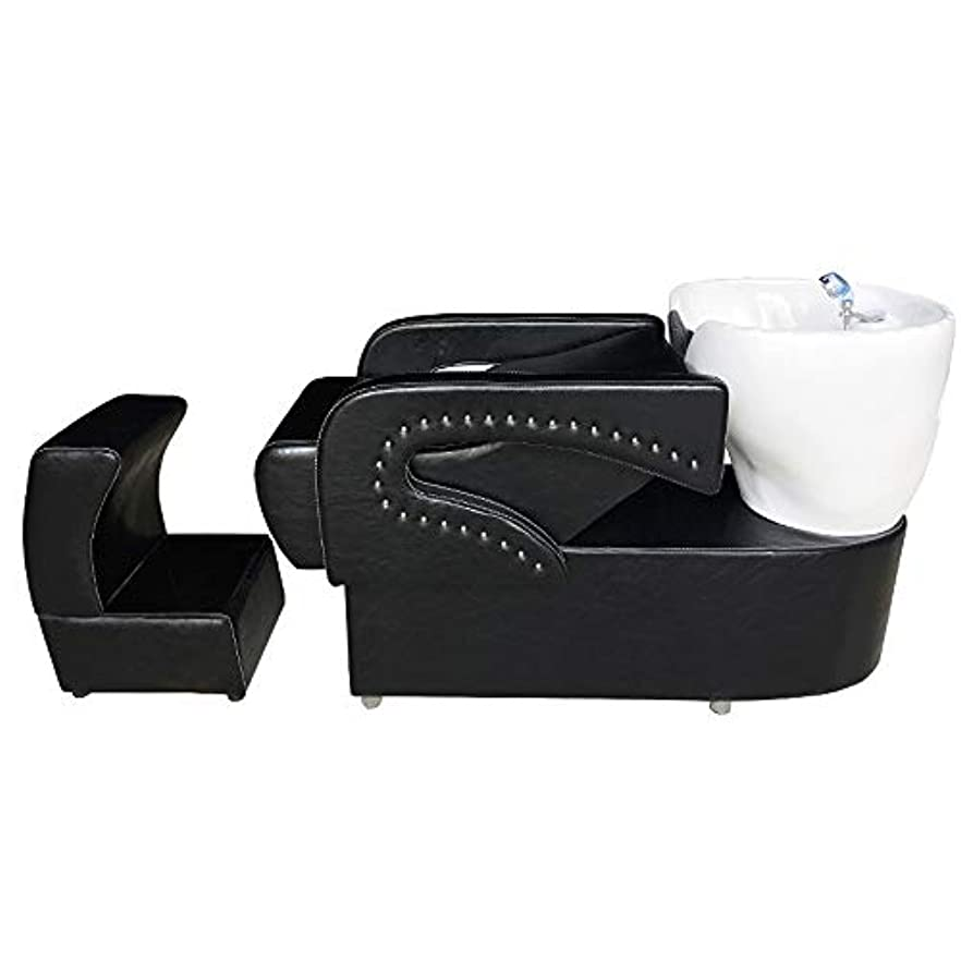 シャンプーの理髪師の逆洗の椅子、鉱泉の美容院のためのシャンプーボールの流しの椅子は半くぼみのフラッシュベッドを流します