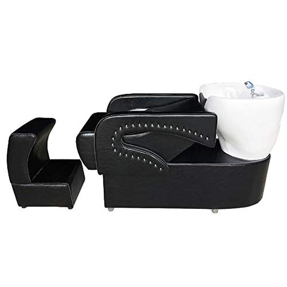 白い鉄バナナシャンプーの理髪師の逆洗の椅子、鉱泉の美容院のためのシャンプーボールの流しの椅子は半くぼみのフラッシュベッドを流します