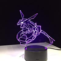Dtcrzj Ha ドラゴンヘビ王動物3Dは接触またはリモート・コントロールの夜ライトアクリルのテーブルライトを導きました