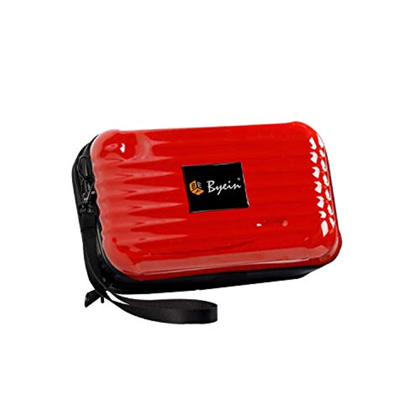 起こりやすい固有の見積りBYEIN 化粧ポーチ 多機能ポーチ 収納バッグ 軽量 旅行 出張 お出かけ 持ち運び便利 スーツケース型