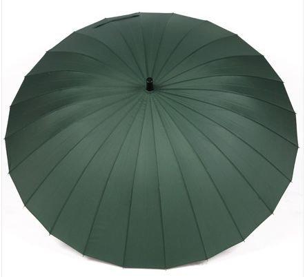 【LudusFelix】超強度 24本骨傘 直径115cm 大型 長傘 撥水加工 無地 全6色 (ダークグリーン)