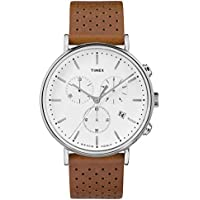 Timex Fairfield Chronograph 41mm Leather Strap Watch TW2R26700