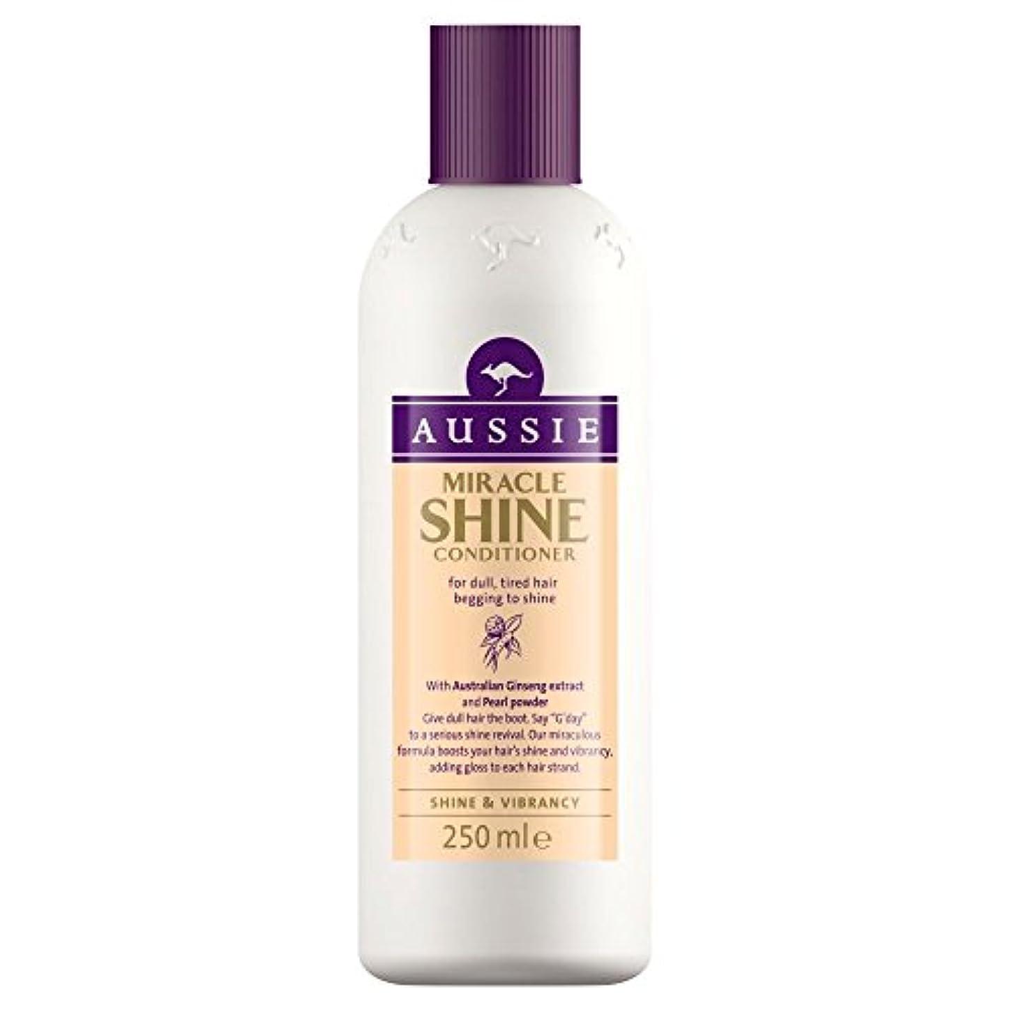 終了する慈悲深いシャンプーAussie Miracle Shine Conditioner (250ml) オージー奇跡のシャインコンディショナー( 250ミリリットル) [並行輸入品]