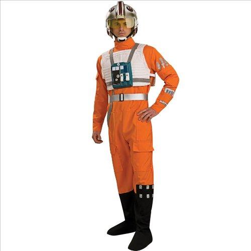 スターウォーズ コスプレ コスチューム Xウィング 戦闘服 パイロット服 オレンジ 大人 男性用 仮装 衣装 STD