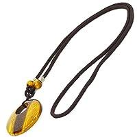 【OMAMORI-DO】タイガーアイ 赤瑪瑙 丸プレート ネックレス 天然石 ペンダント