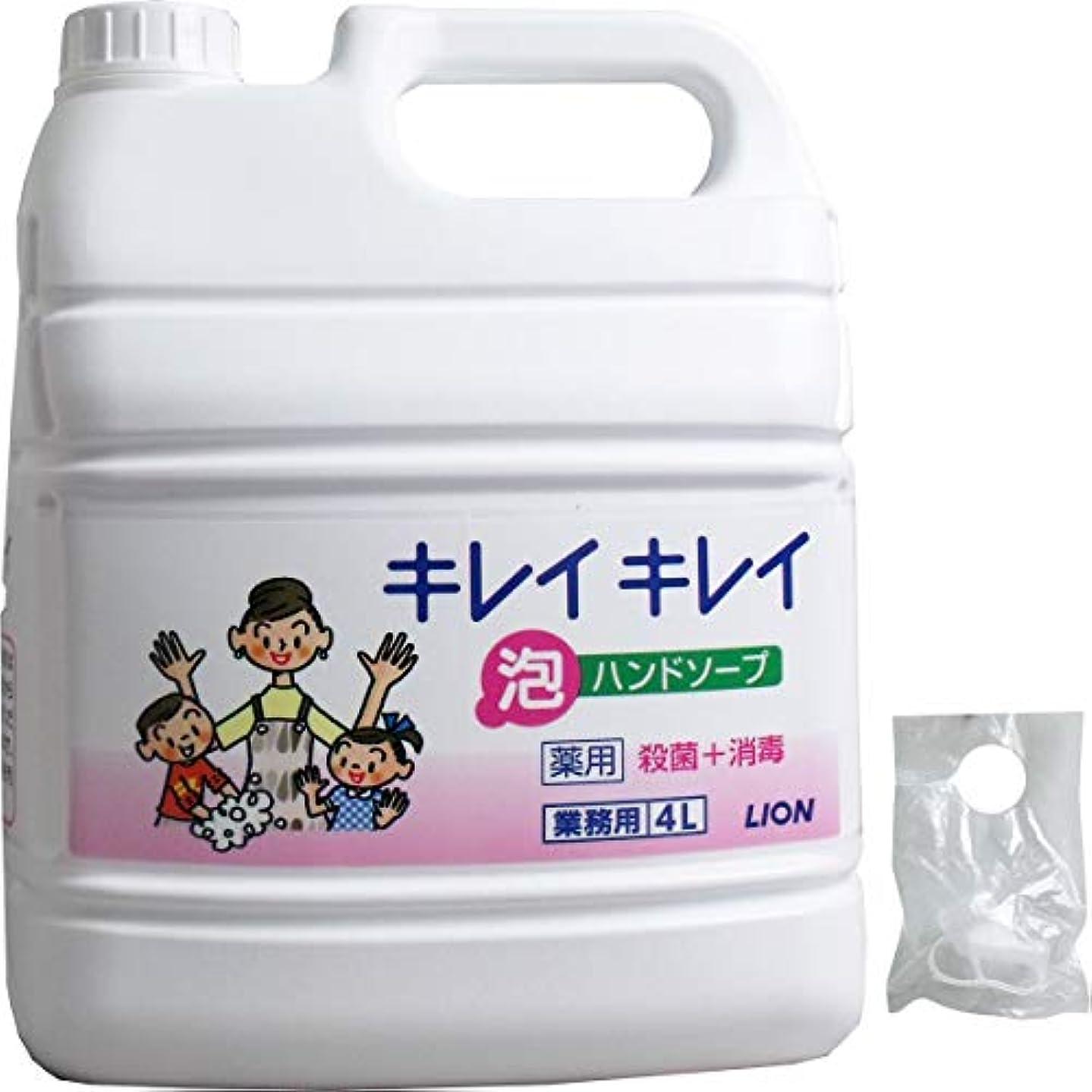 呪われた多様性質量業務用 キレイキレイ 薬用 泡ハンドソープ 4L(単品1個)
