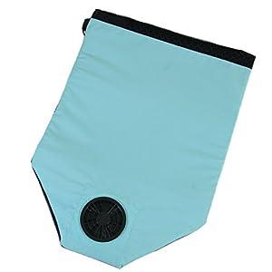 東京西川 エアロシート ブルー ムレ防止 風を通して快適・さわやか 乾電池式 座布団