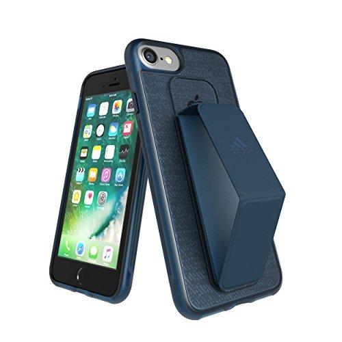 【アディダス公式ライセンスショップ】アディダスパフォーマンス iPhone 6/6S/7ケース スタンド機能 グリップバンド付き スポーツ仕様 耐衝撃 軽量 ランニング アウトドア ネイビー [adidas Performance - Grip Case iP6/6S/7 - Collegiate Navy]