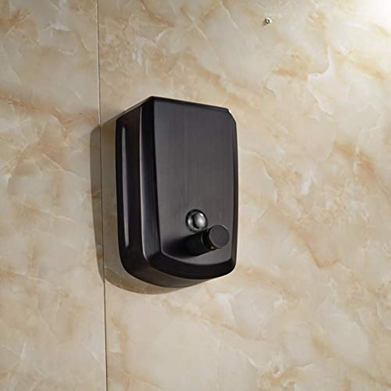 気まぐれな面白いキャップLUDSUY Oil Rubbed Bronze 800ml Bathroom Soap Dispenser Liquid Soap Pump Lotion DispenserBathroom accessories