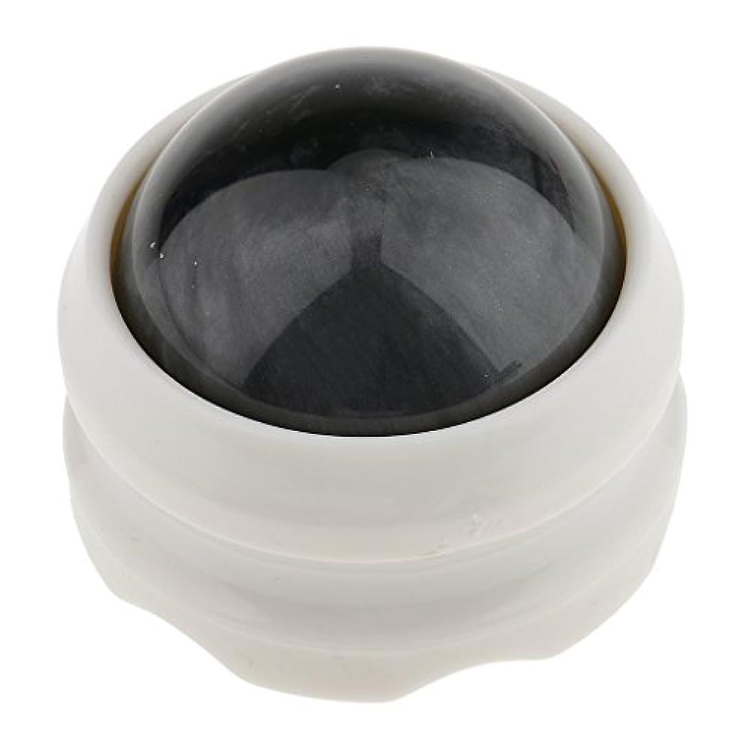 フローティング自分のために羨望SONONIA マッサージ ローラーボール ボディ バック ネック フット セルフマッサージ ツール 全4色 - グレーホワイト