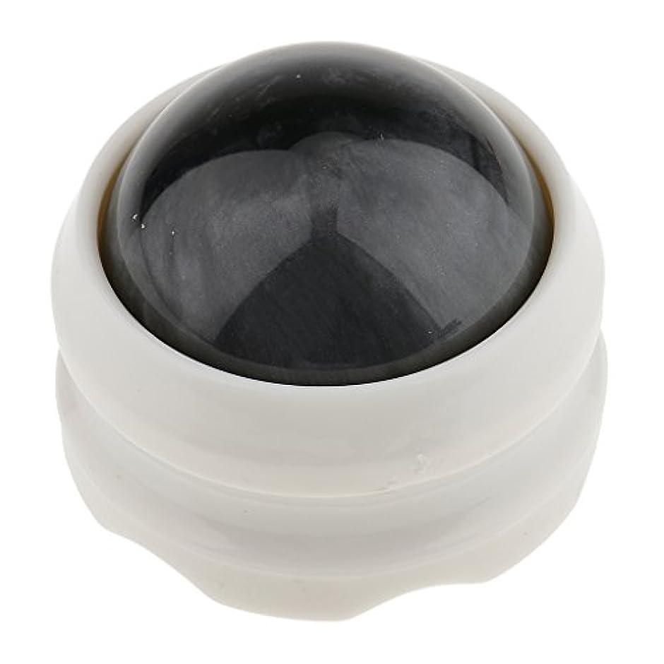 楕円形フォロー空白マッサージ ローラーボール ボディ バック ネック フット セルフマッサージ ツール グレーホワイト